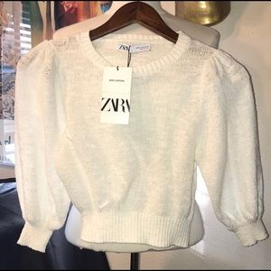 Zara Puff Sleeves Sweater
